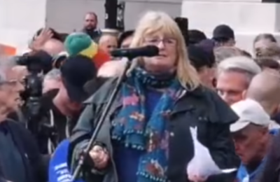 Sandi Adams Trafalgar Square Freedom Protest